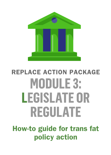 REPLACE Module 3: Legislate or regulate